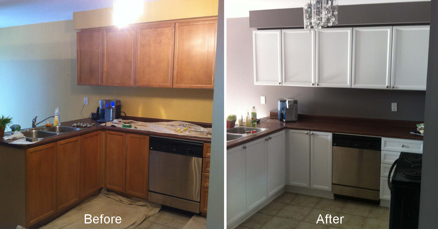 before after kitchen cabinets santiag 39 s old country painting ltd. Black Bedroom Furniture Sets. Home Design Ideas